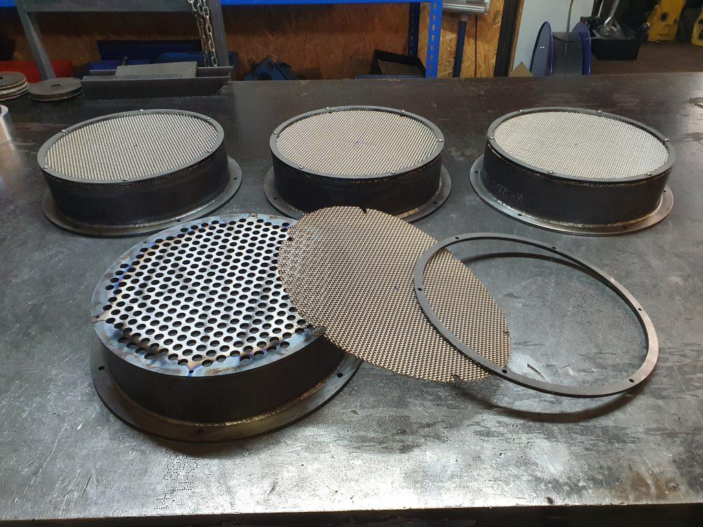 Filter aus ST37 für Wärmetauscher